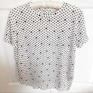 4 / $25 white loft print patterned blouse top